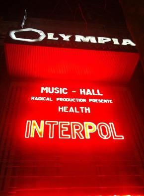 INTERPOL (27/01/15) –L'Olympia