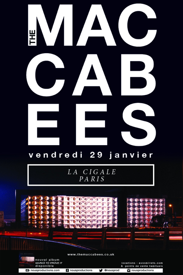THE MACCABEES_PARIS_JANUARY 2016_